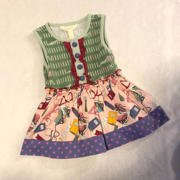 "Matilda Jane ""Well Read"" tunic size 2T"
